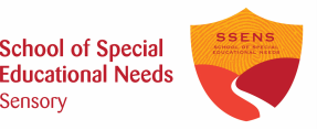 School of Special Educational Needs: Sensory logo with shield